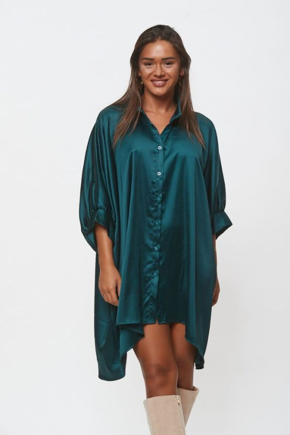Satin Batt Sleeve Shirt