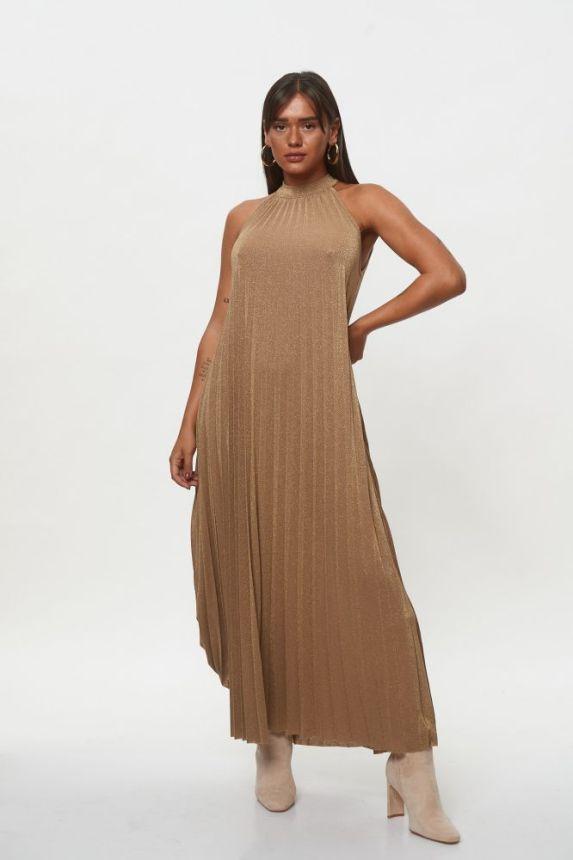 Φόρεμα Maxi Αμάνικο Λούρεξ