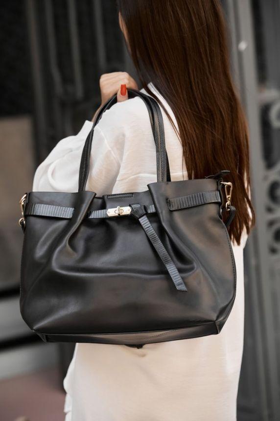Τσάντα Με Κροκό Χερούλι