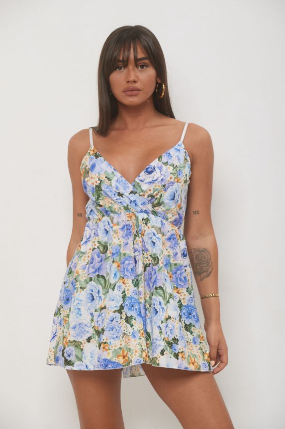 Roses Print Overall