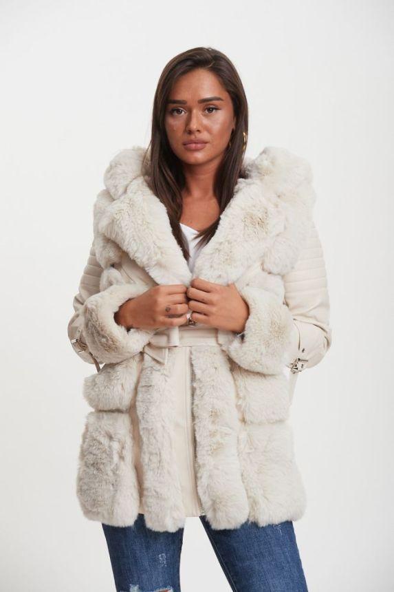 Furry Leatherette Jacket