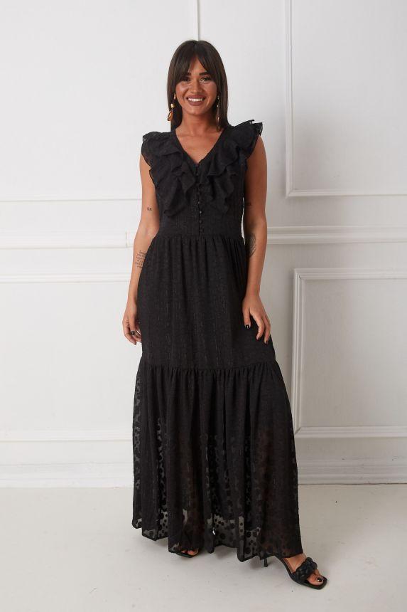 Φόρεμα Μακρύ Με Βολάν