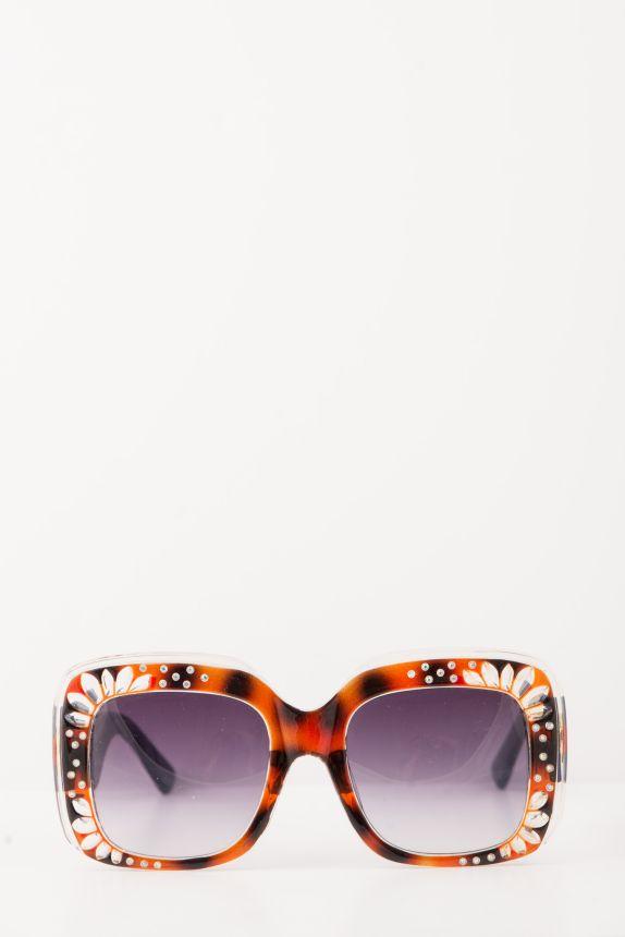 Γυαλιά Ηλίου Κοκάλινα Με Στρας