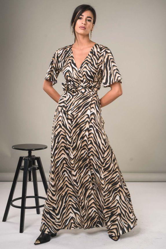 Φόρεμα Μακρύ Κρουαζέ Άνιμαλ