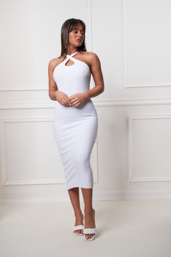 Φόρεμα Midi Με Αλυσίδα Στη Τιράντα