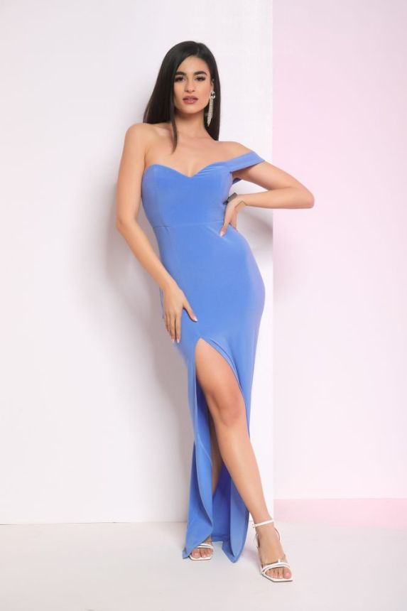 Φόρεμα Μακρύ Στράπλες Julia