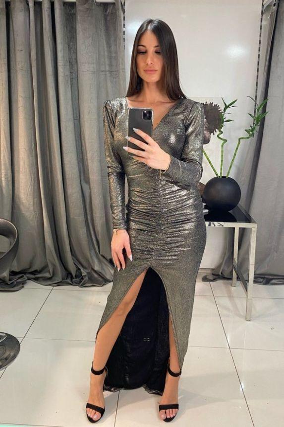 Φόρεμα Μακρυ Με Σούρα