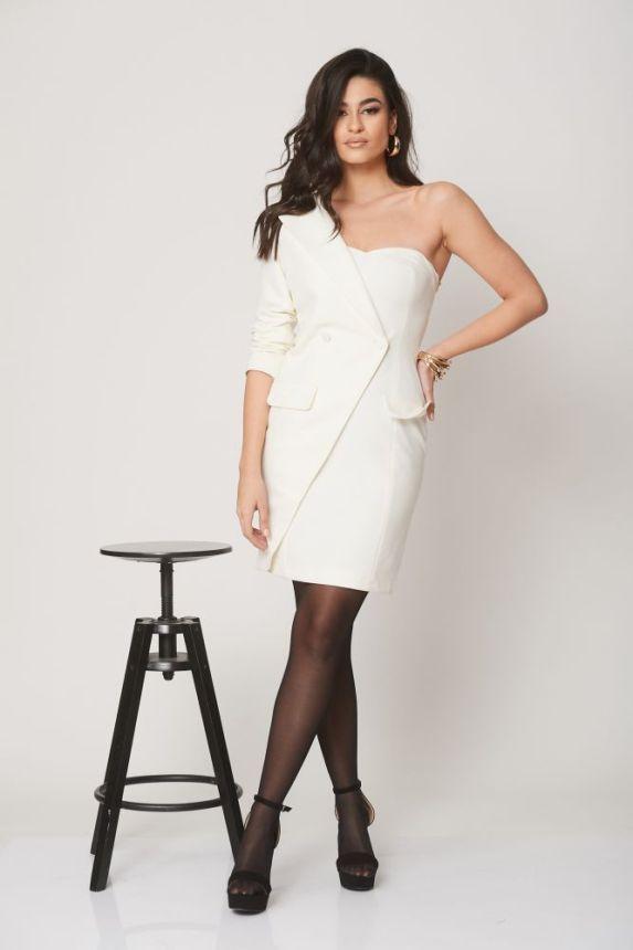 Φόρεμα Με Έναν Ώμο Σακάκι