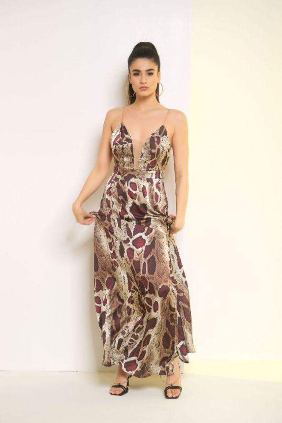 Φόρεμα Σάτεν Με Print
