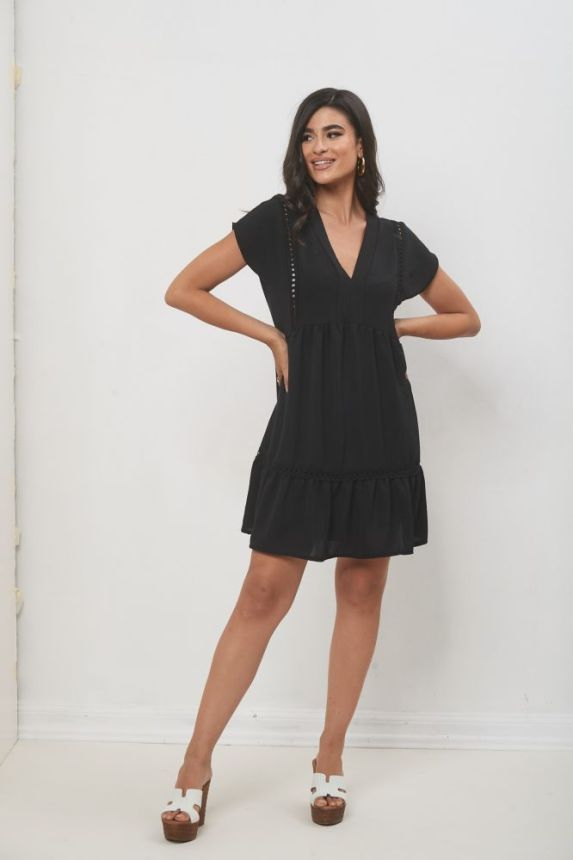 Φόρεμα Κοντομάνικο Με Τσιγγελάκι