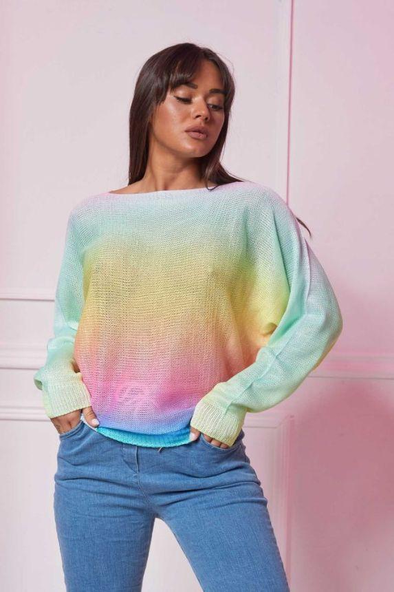 Drop Shoulder Knit Sweater