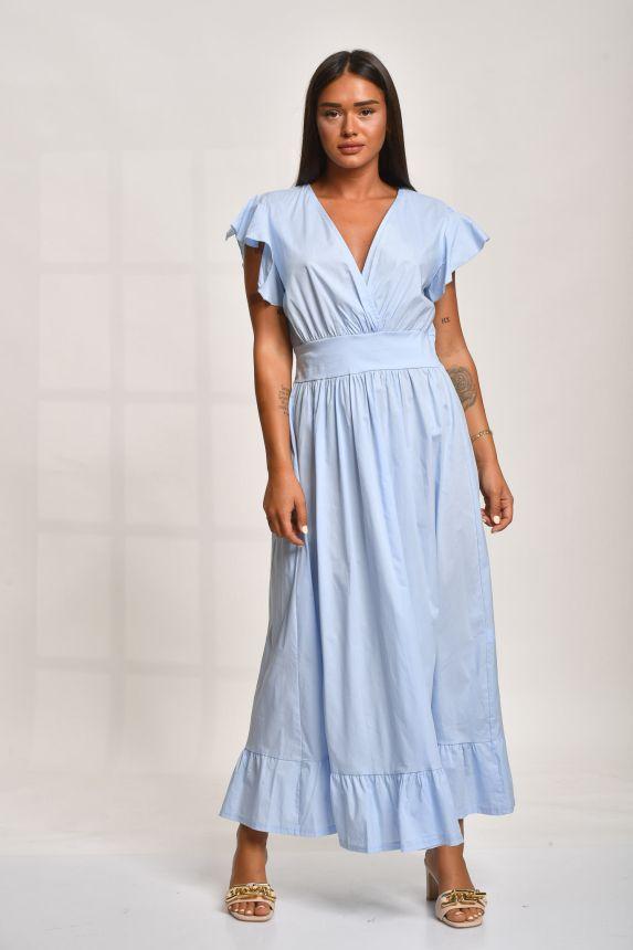 Φόρεμα Μακρύ Με Σφιγγοφολιά Στη Μέση