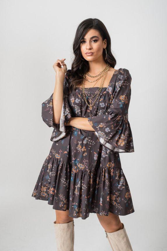 Φόρεμα Κοντό Με Σούρα