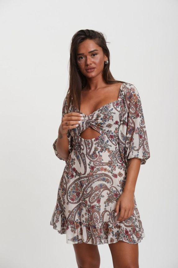 Φόρεμα Mini Με Ανθάκια