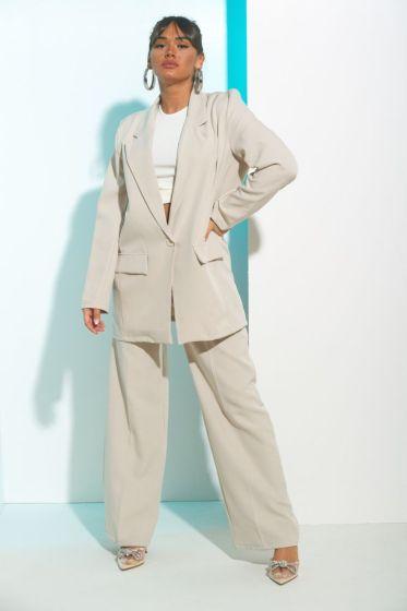 Σετ Σακάκι & Παντελόνα Με Πιέτα