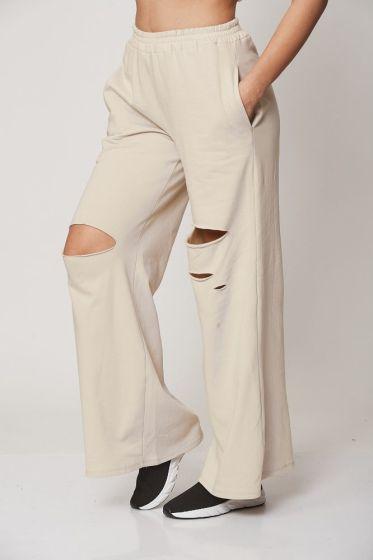 Παντελόνα Με Σκίσιμο Φούτερ