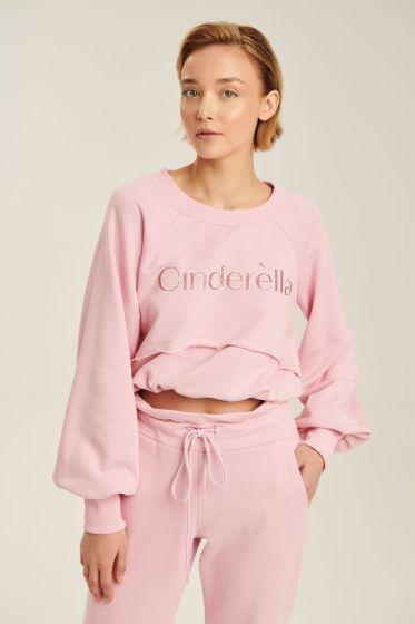 Μπλούζα Φούτερ Με Γράμματα Cinderella Με Κορδόνι