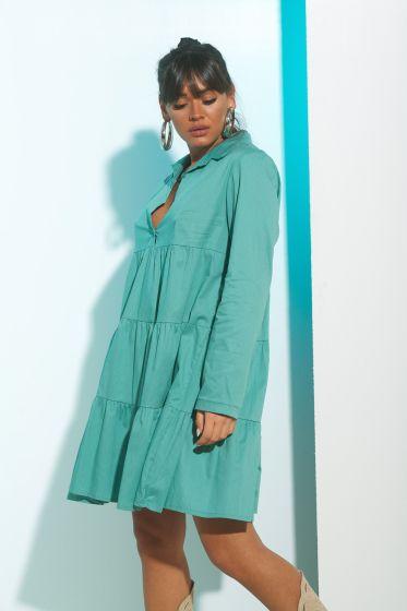 Φόρεμα Ποπλίνα Γιακάς