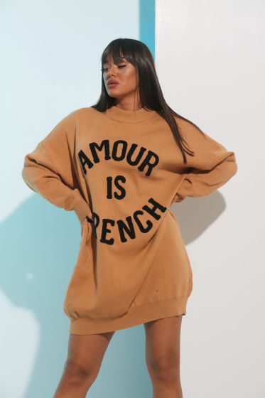 Φόρεμα Μακρύ Μανίκι Amour Is French